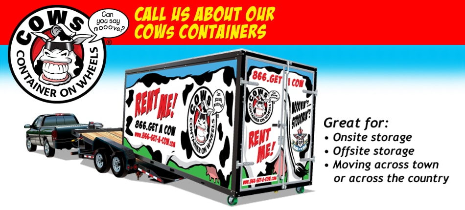 Call Us About Our COWs Containers